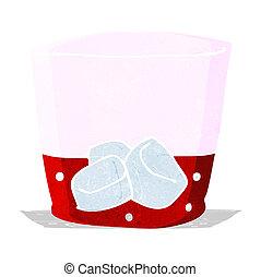 vetro, bevanda, cartone animato
