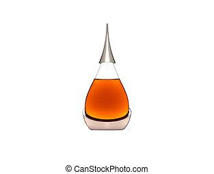vetro, bianco, bottiglia, contro
