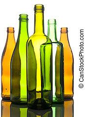 vetro, bianco, bottiglia, fondo