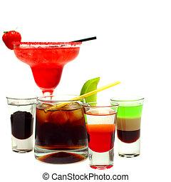 vetro, bianco, cocktail, fondo