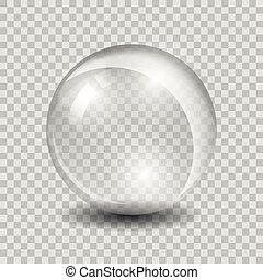 vetro, bianco, vettore, trasparente, sfera