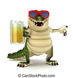 vetro, birra, croc