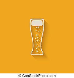 vetro, birra, disegnare elemento