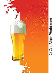 vetro, birra, gelido, luce