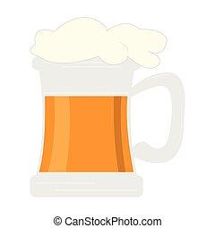 vetro, birra, isolato