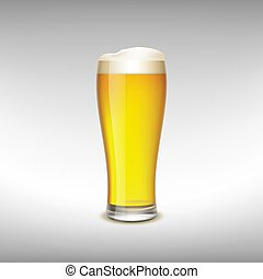 vetro, birra, luce