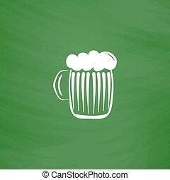 vetro, birra, schiuma