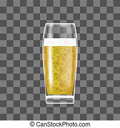 vetro, birra, trasparente