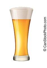vetro, birra, vettore, white.