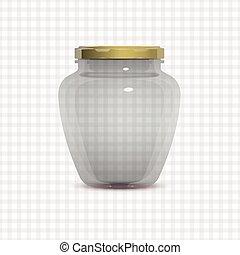 vetro, blocchi vaso, trasparente, vuoto