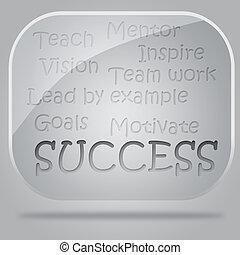 vetro, Bolle, flusso, grafico, successo