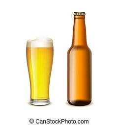 vetro, bottiglia birra
