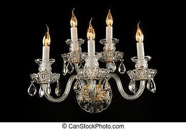 vetro, candeliere, contemporaneo