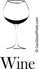 vetro, concetto, disegno, vino, menu