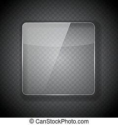 vetro, cornice, astratto, fondo., vettore, illustrat, trasparente