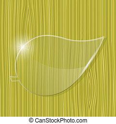 vetro, cornice, foglia