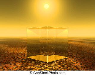 vetro, cubo