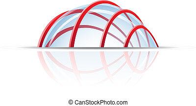 vetro, cupola