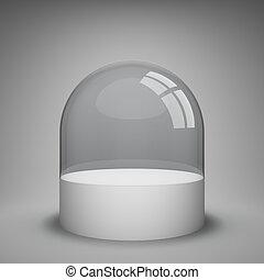 vetro, cupola, vuoto