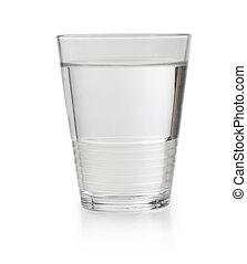 vetro, di, pulito, colpire acqua leggermente