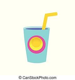 vetro, drink., isolato, object., festa