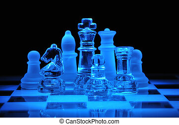 vetro, figure, scacchi