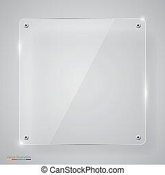 vetro, framework., trasparente, vuoto