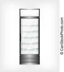 vetro, frigorifero, mensole