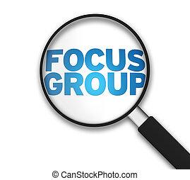 vetro, -, ingrandendo, focalizzi gruppo