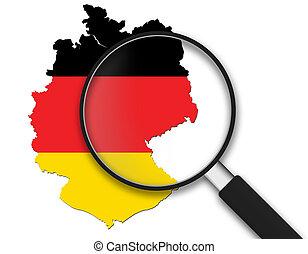 vetro, -, ingrandendo, germania