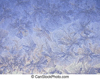 vetro, inverno, frosted