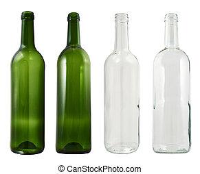 vetro, isolato, bottiglia