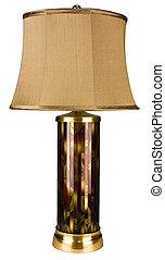 vetro, lampada, accento, contemporaneo, tavola