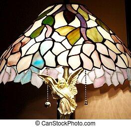 vetro, lampada, macchiato