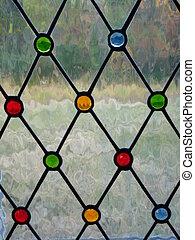 vetro, macchia, finestra, chiesa