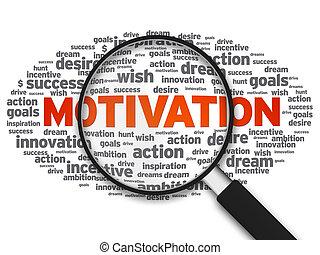 vetro, motivazione, -, ingrandendo