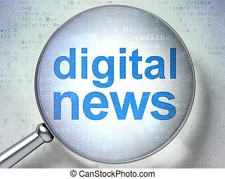 vetro, notizie, ottico, concept:, digitale