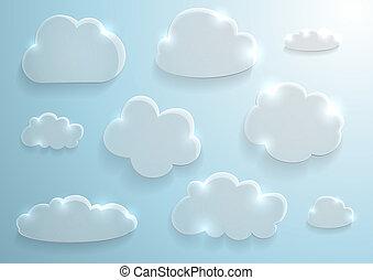 vetro, nubi, collezione