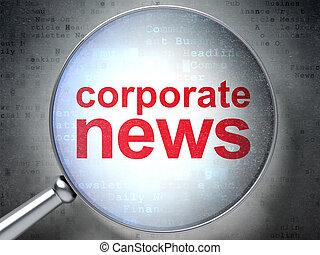 vetro, ottico, corporativo, concept:, notizie