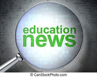 vetro, ottico, educazione, concept:, notizie