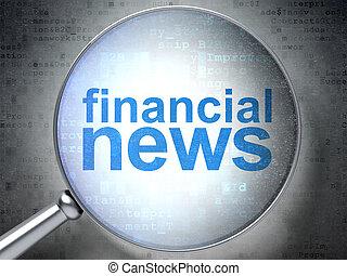vetro, ottico, finanziario, concept:, notizie
