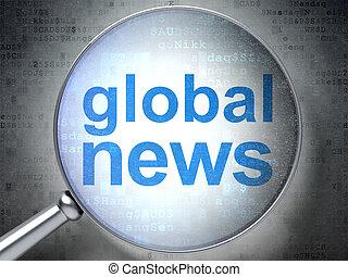 vetro, ottico, globale, concept:, notizie