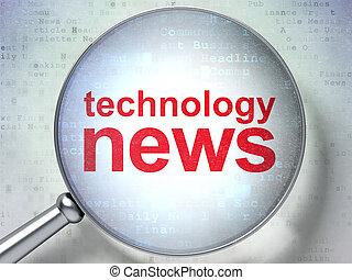 vetro, ottico, tecnologia, concept:, notizie