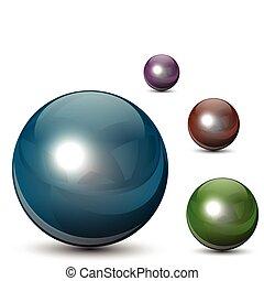 vetro, sfere