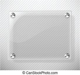 vetro, sfondo bianco, piastra