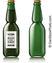 vetro, trasparente, bottiglia