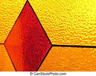vetro, triangolo, rosso