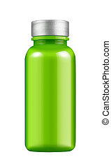 vetro, verde, bottiglia