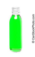 vetro, verde, liquido, bottiglia