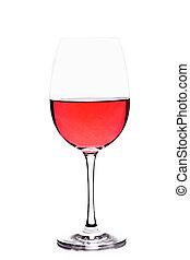 vetro vino, rosa